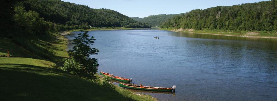 Canoes on the Restigouche River